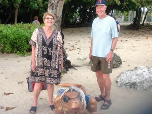 Judy and Frank in the Caribbean 2015
